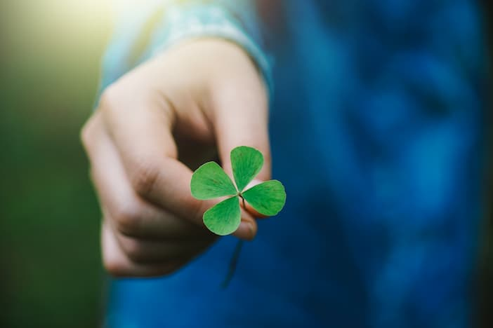 four leaf clover for lottery win